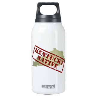 Kentucky Native Stamped on Map Insulated Water Bottle