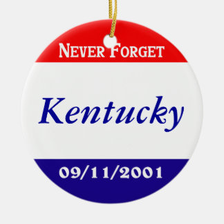 Kentucky Double-Sided Ceramic Round Christmas Ornament