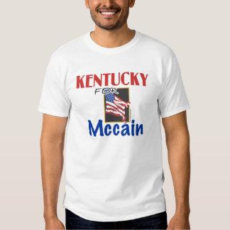 Kentucky para la camiseta de Mccain Playera