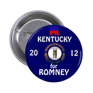 Kentucky para Romney 2012 Pin Redondo De 2 Pulgadas