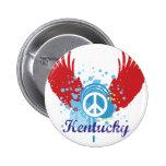 Kentucky Peace Sign Button Pins