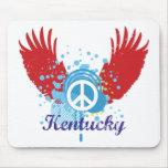 Kentucky Peace Sign Mousepad Mouse Pad