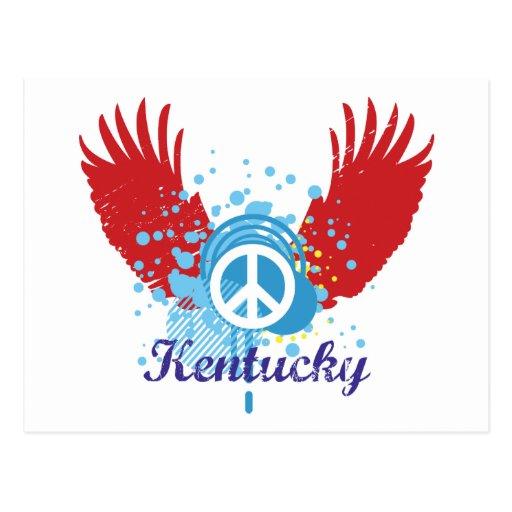 Kentucky Peace Sign Postcard Post Cards