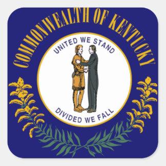 Kentucky Pegatina Cuadrada