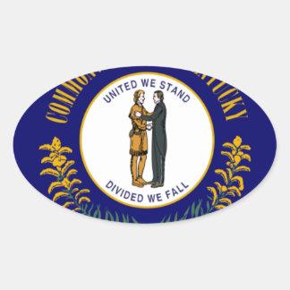 Kentucky Pegatina Ovalada
