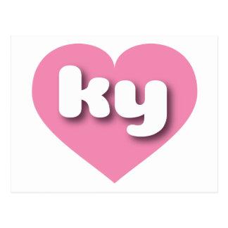 kentucky pink heart -mini love postcard