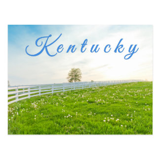 Kentucky Postcard. Countryside landscape in spring Postcard