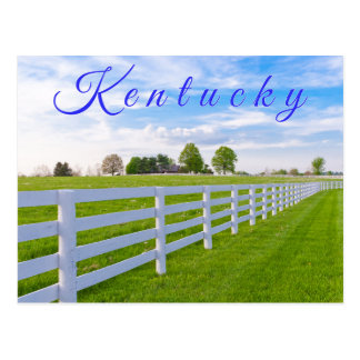 Kentucky Postcard. Countryside landscape. Postcard