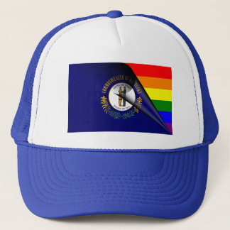 Kentucky Rainbow Flag Trucker Hat