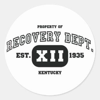 KENTUCKY Recovery Classic Round Sticker