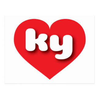 kentucky red heart - mini love postcard