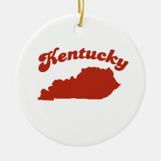 KENTUCKY Red State Double-Sided Ceramic Round Christmas Ornament