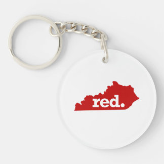 KENTUCKY RED STATE Double-Sided ROUND ACRYLIC KEYCHAIN