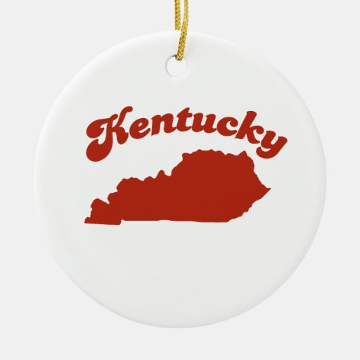 KENTUCKY Red State Christmas Tree Ornaments