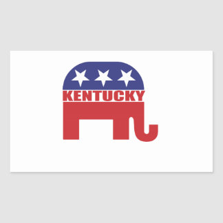 Kentucky Republican Elephant Rectangle Stickers