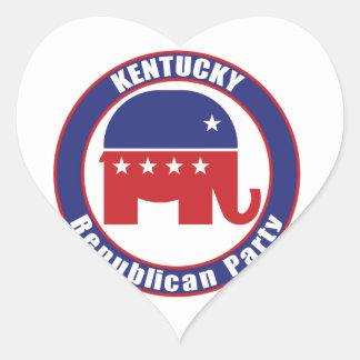 Kentucky Republican Party Heart Sticker
