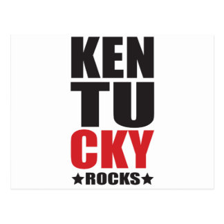 Kentucky Rocks! State Spirit Gifts and Apparel Postcard