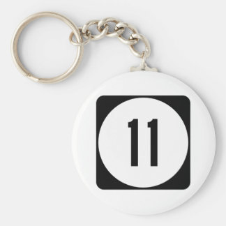 Kentucky Route 11 Basic Round Button Keychain