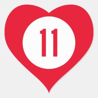 Kentucky Route 11 Heart Sticker