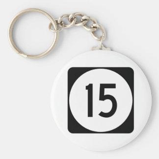 Kentucky Route 15 Basic Round Button Keychain
