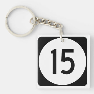 Kentucky Route 15 Double-Sided Square Acrylic Keychain