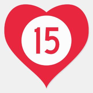 Kentucky Route 15 Heart Sticker
