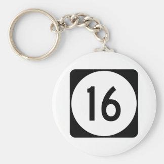 Kentucky Route 16 Basic Round Button Keychain
