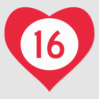 Kentucky Route 16 Heart Sticker