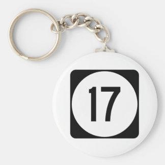 Kentucky Route 17 Basic Round Button Keychain