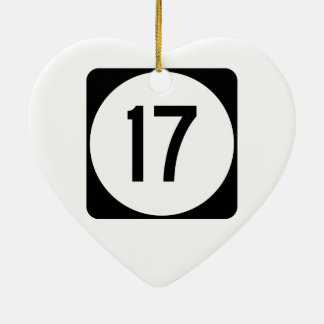 Kentucky Route 17 Ceramic Ornament