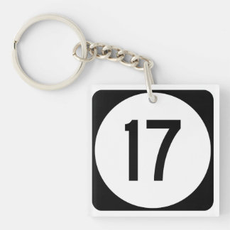 Kentucky Route 17 Double-Sided Square Acrylic Keychain