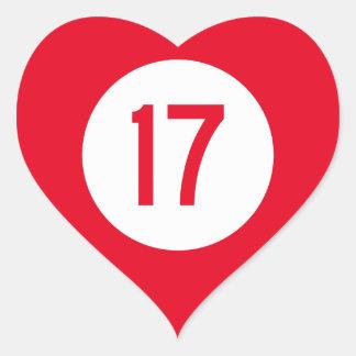 Kentucky Route 17 Heart Sticker