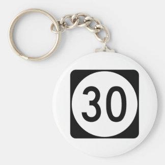 Kentucky Route 30 Basic Round Button Keychain
