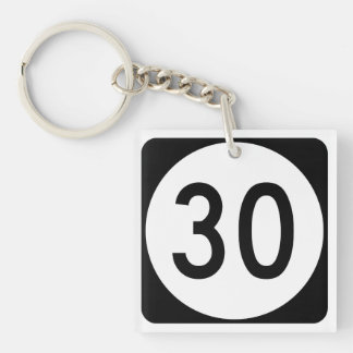 Kentucky Route 30 Double-Sided Square Acrylic Keychain