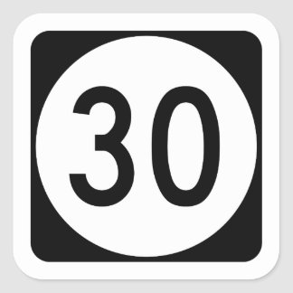 Kentucky Route 30 Square Sticker