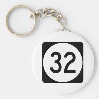 Kentucky Route 32 Basic Round Button Keychain