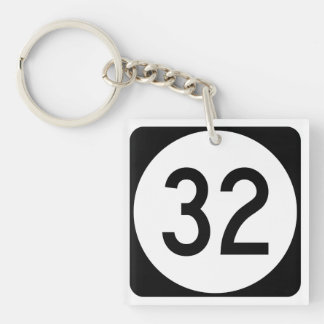 Kentucky Route 32 Double-Sided Square Acrylic Keychain