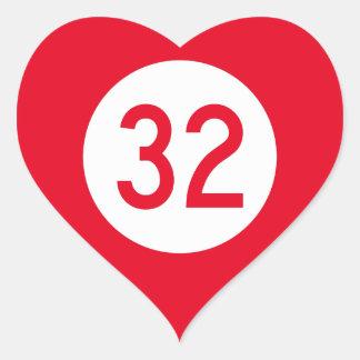 Kentucky Route 32 Heart Sticker