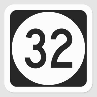 Kentucky Route 32 Square Sticker