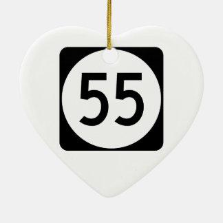 Kentucky Route 55 Ceramic Ornament