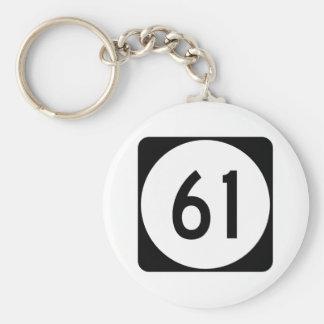 Kentucky Route 61 Basic Round Button Keychain