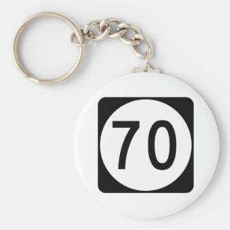 Kentucky Route 70 Basic Round Button Keychain