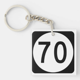 Kentucky Route 70 Double-Sided Square Acrylic Keychain
