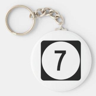 Kentucky Route 7 Basic Round Button Keychain