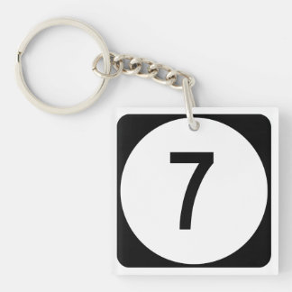 Kentucky Route 7 Double-Sided Square Acrylic Keychain