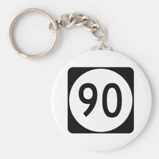 Kentucky Route 90 Basic Round Button Keychain
