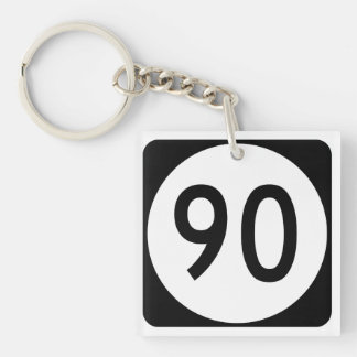 Kentucky Route 90 Double-Sided Square Acrylic Keychain