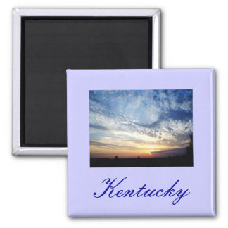 Kentucky Skies 2 Inch Square Magnet