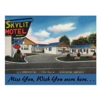 Kentucky, Skylit Motel, Winchester Postcard