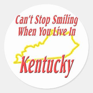 Kentucky - sonriendo etiquetas redondas